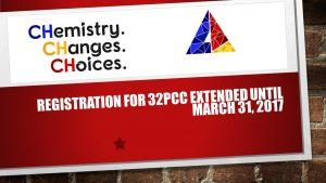 Registration for 32pcc extended until