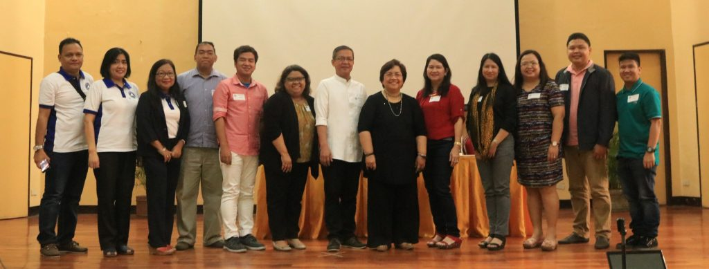 PNU President Ester B. Ogena with the PACT Board and Officers