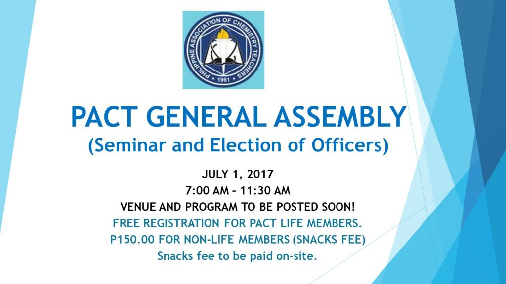 2017 PACT GENERAL ASSEMBLY