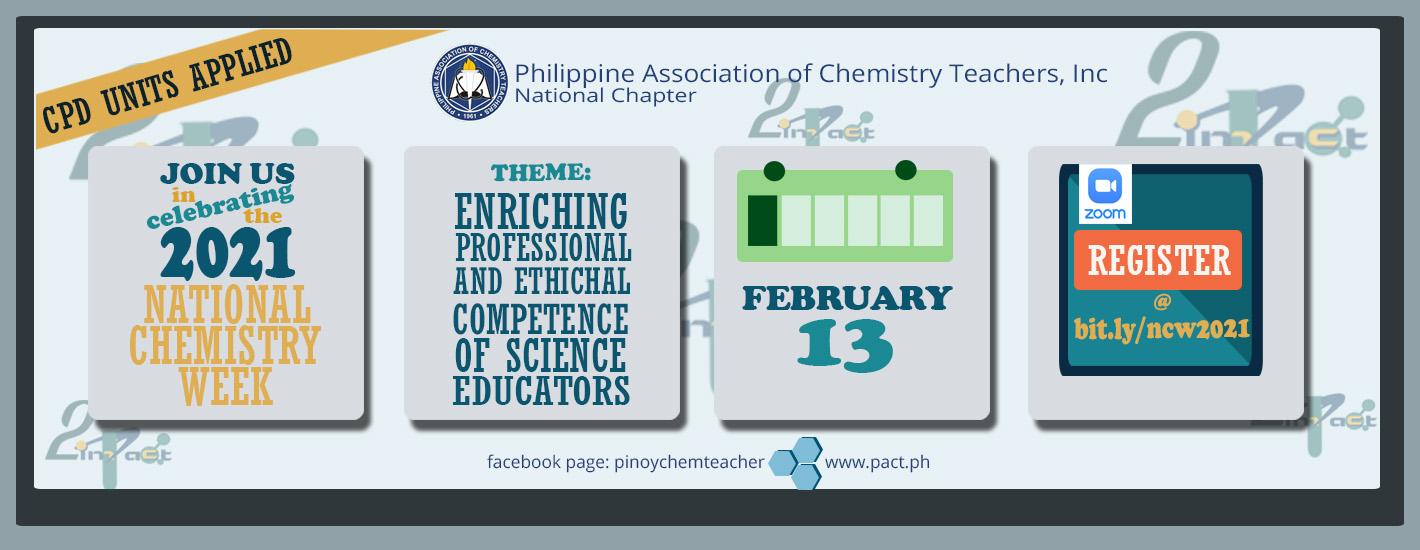 2021 NATIONAL CHEMISTRY WEEK CELEBRATION